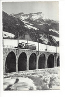 28134 - Leysin Le Viaduc Et Les Dents Du Midi  Train Photo Nicca Leysin - VD Vaud