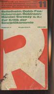 "Zur Kritik Der Sowjet ökonomie - ""Rotbuch"" N°11 - Bettelheim/Dobb/Foa/Huberman/Robinson/Mandel.. - 1969 - Other"