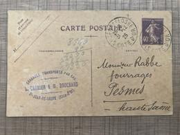 Commande De Marchandises Dragages Transports Par Eau L. CHANIER & M. BOUCHARD St Jean De Losne - Altri Comuni