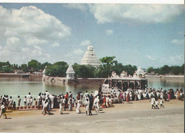 CPSM, Inde,N°15,Mariamman Teppakulam ,Madurai ,Animée - Inde