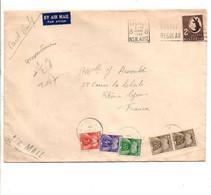 LETTRE D'AUSTRALIE TAXEE A L'ARRIVEE A LYON 1956 - Postage Due Covers