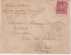 "FRANCE : N° 98 . TYPE SAGE . CHARGE . "" NEUFCHATEL EN SAONNOIS SARTHE "" . 1900 . - 1877-1920: Semi Modern Period"