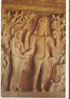 CPSM, Inde , N°381,Shiva & Parvati Marriage Cave N°29 - Elllora ,Ed. L.R.T. - Inde