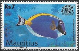 MAURITIUS 2000 Fish - 7r - Acanthurus Leucosternon FU - Mauricio (1968-...)