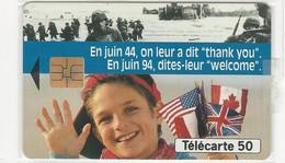 Télécarte - 50ème Anniversaire Du Débarquement - Army