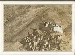 CPSM, Inde,N°XIII- A3, Rizong ,A Monastery In The Upper Indus Région ,Ed. SA. Service - Inde