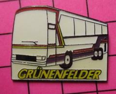 SP06 Pin's Pins / Beau Et Rare / THEME : TRANSPORTS / AUTOBUS ROUTIER BLANC ALLEMAND GRÜNENFELDER - Transportation