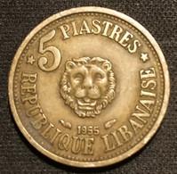 LIBAN - LEBANON - 5 PIASTRES 1955 - KM 21 - Libano