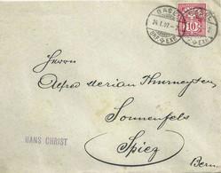 "Motiv Brief  ""Christ, Basel"" - ""Merian, Spiez""               1907 - Covers & Documents"