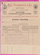262094A / Germany 1914 Berlin - Paul Stabernack & Co. Spezialfabrik Für Ladeneinbauten , Geschäftseinrichtungen - 1900 – 1949