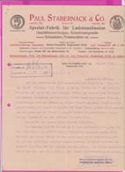 262097 / Germany 1914 Berlin - Paul Stabernack & Co. Spezialfabrik Für Ladeneinbauten , Geschäftseinrichtungen - 1900 – 1949