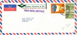 Pakistan Air Mail Cover Sent To Denmark 21-8-1970 Under Postal Certificate - Pakistan