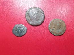 Lot 3 Pieces Monnaies Romaines Bronze Pour étude (6G) - Unclassified