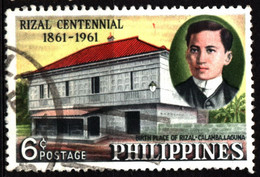 Philippines 1961 Mi 678 Rizal Birthplace At Calamba Laguna (2) - Philippinen
