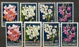 Philippines  1962 Mi 692.AB-695.AB Orchids - MNH - Philippinen