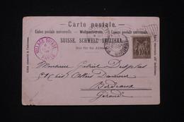 FRANCE - Carte, Vignette Et Oblitération De L 'Exposition De Paris En 1900 Pour Bordeaux, Oblitération Drapeau - L 97572 - 1877-1920: Semi-Moderne
