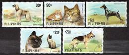 Philippines 1979 Mi 1306-1310 Cats - CTO - Philippinen