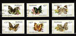 Philippines 1984 Mi 1588-1593 Butterflies - CTO - Philippinen