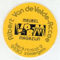 AUTOCOLLANTS . STICKER . MAGASIN DE MEUBLES . ALBERT VAN DE VELDE - ACCOE .KERKSTRAAT 9 . 9930  ZOMERGEM - Stickers