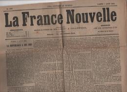LA FRANCE NOUVELLE 07 08 1875 - 3e REPUBLIQUE - DUBLIN - SERBIE BOSNIE - CHEMIN DE FER PARIS BRIE COMTE ROBERT - V. HUGO - 1850 - 1899