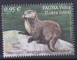 MONTENEGRO 2021,FAUNA,OTTER,LUTRA LUTRA,ANIMALS,,MNH - Montenegro