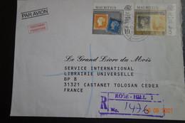 Lettre En Recommandée De ROSE HILL - Mauricio (1968-...)