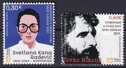 MONTENEGRO 2021,Art, Kunst, Zivko Nikolic,Svetlana Radicevic,,MNH - Montenegro