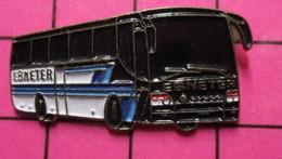 SP06 Pin's Pins / Beau Et Rare / THEME : TRANSPORTS / AUTOBUS ROUTIER BLANC ET BLEU EBNETER - Transportation