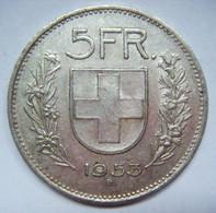 5 F 1953 SUISSE CONFOEDERATIO HELVETICA - Argent Argento Silber Silver - Switzerland