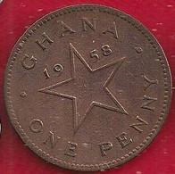 GHANA 1 PENNY - 1958 - Ghana