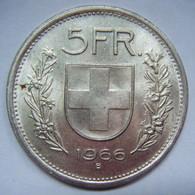 5 F 1966 SUISSE CONFOEDERATIO HELVETICA - Argent Argento Silber Silver - Switzerland