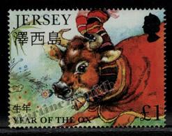 Jersey 1997 Yvert 758, Year Of The Ox, Lunar Year - Single From Miniature Sheet - MNH - Jersey