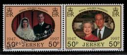 Jersey 1997 Yvert 803-04, Royal Golden Wedding Anniversary - MNH - Jersey