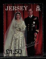 Jersey 1997 Yvert 804A Royal Golden Wedding Anniversary - Single From Miniature Sheet - MNH - Jersey