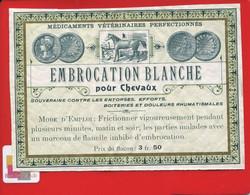 Rare Etiquette VETERINAIRE Médicaments Vétérinaires Perfectionné Pour Chevaux Embrocation Blanche Entorse Rhumatismes - Other