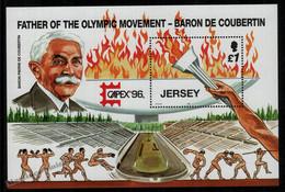 Jersey 1996 Yvert BF 14, Centenary Of The Olympic Games - Miniature Sheet - MNH - Jersey