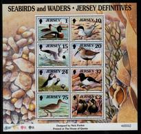 Jersey 1997 Yvert BF 17, Fauna, Birds, Seabirds & Waders - Miniature Sheet - MNH - Jersey