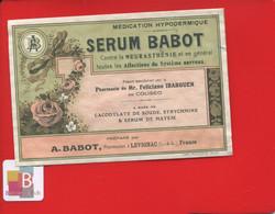 Rare Etiquette Pharmacie LEVIGNAC  Pharmacien  BABOT Feliciano Ibarguen Coliseo SERUM Imprimerie Moderne Agen - Other