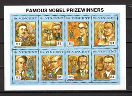 SAINT VINCENT   N° 1398 à 1405    NEUFS SANS CHARNIERE   COTE 14.00€   PRIX NOBEL - St.Vincent (1979-...)