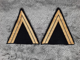 Paires De Galonnage Pour Vareuse De Gendarme Mobile - Escudos En Tela