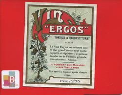 Rare Etiquette Pharmacie Pharmacien  VIN VERGOS  Imprimerie Moderne Agen - Other