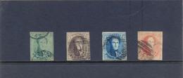 Nrs. 9/12 Gestempeld 4 Witte Randen 250 Côte - 1858-1862 Medaillen (9/12)
