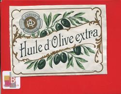 Rare Etiquette Dorée 1900  Huile D' Olive Extra  Imprimerie Moderne Agen - Other