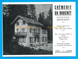 Chamonix Les Praz * Carte Publicité Crèmerie Du Bouchet Pension Restaurant Schmitt - Chamonix-Mont-Blanc