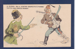 CPA Turquie Turkey Caricature Satirique Non Circulé Guerre War Russie Russia Libia - Turkey