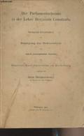 Der Parlamentarismus In Der Lehre Benjamin Constants - Inaugural-Dissertation Zur Erlangung Der Doktorwürde Der Hohen Ph - Other