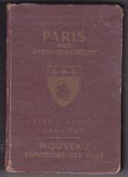 PLAN DE PARIS Par Arrondissements. Métro, Autobus, Banlieue, Par Raymond DENAES, Editions L'Indispensable SD Vers 1920 ? - Europe
