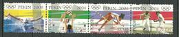POLAND MNH ** 4104-4107 Jeux Olympiques D'été à Pekin, Chine, Escrime, Natation, Volley Ball, Saut à La Perch - Unused Stamps