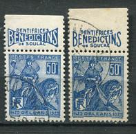 """21621 FRANCE N°257° (144 ) 50c. Jeanne D'Arc : """"Bénédictins"""" Dentifrices De Soulac  1929  TB - Pubblicitari"""
