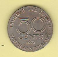 Trinidad & Tobago 50 Cents 1972 Nickel Coin - Trinidad & Tobago